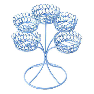 Metal 5 Cup Cake Stand Holder Wedding Party Cake Shop Party Buffet Display