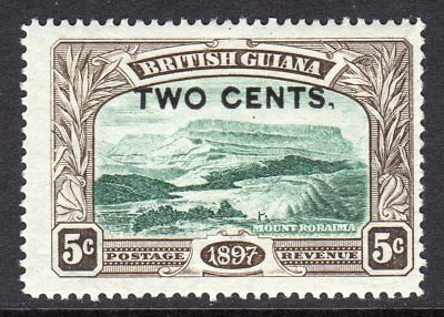 British Guiana 1899 Surch 2c on 5c (Comma after Cents) SG222b MNH