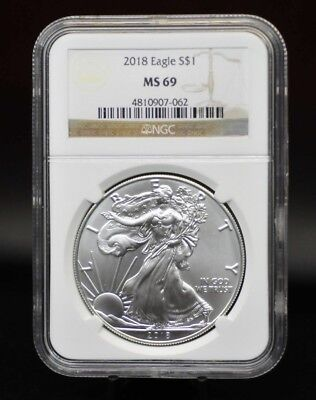 2018 NGC MS69 Silver Eagle [12DUD]
