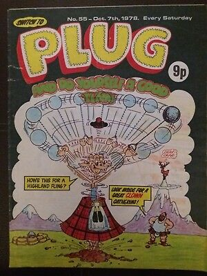 Plug comic  issue 55 dated October 7th 1978