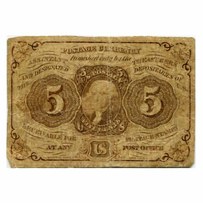 Fractional Currency 5 cents 1862 First Issue FR#1230 VG