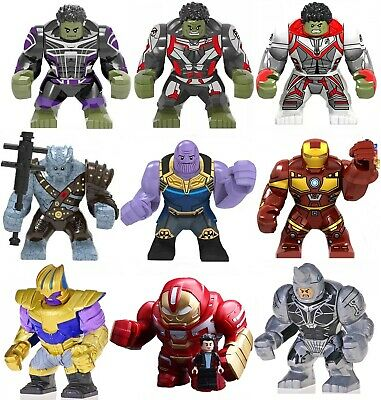 NEW Big Figures Avengers Super Heroes Marvel DC Fit lego Building Blocks IronMan