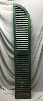 Antique House Arched Window Wood Louvered Shutter Door 73x13 Old Vtg 566-18C