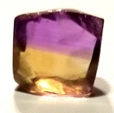 19.51 Carats, Internally Flawless Bi Color Ametrine Facet Rough From Bolivia