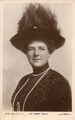 QUEEN AMELIA of PORTUGAL - OLD REAL PHOTO POSTCARD 1914