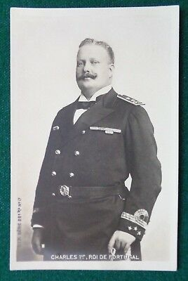 Antique Royal Postcard King Charles I of Portugal in Naval Uniform