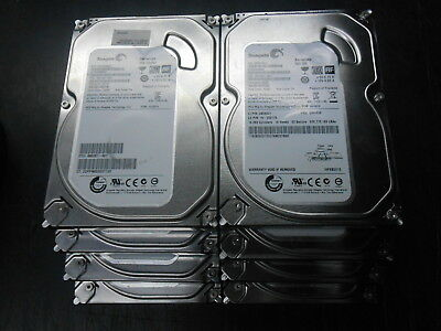 Lot of Seven (7) Seagate SATA Desktop Hard Drives 500GB Wiped with No Errors