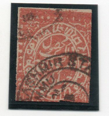JAMMU AND KASHMIR India, 1879, 4 A. red , used, SG 129, datestamp, sign. Richter