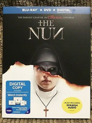 The Nun Blu-ray + DVD + Digital  Brand New with Slip Cover