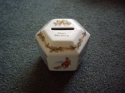 Lovely Vintage Wedgwood Christmas Peter Rabbit Money Box