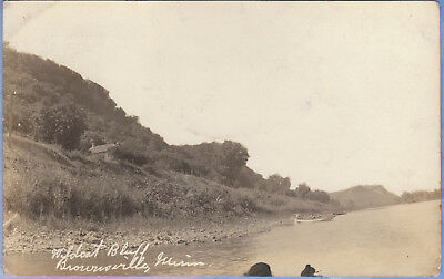 Rppc...brownsville, Minnesota...wildcat Bluff, Mississippi River...free Shipping