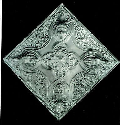 Antique Ceiling Tile Woman's Faces In 4 Corners 2' x 2' Milwaukee Dance Hall