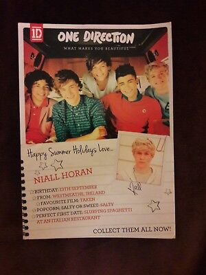 One Direction promotional postcard What Makes you beautiful Niall Horan 1D