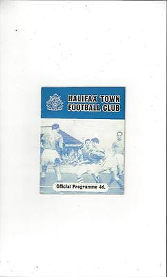 Halifax Town v Torquay United 1960/61 Football Programme