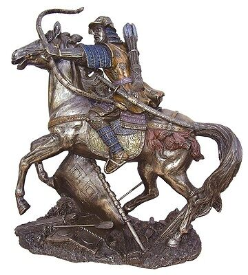 8.25 Inch Samurai Archer on Horse Collectible Statue Figurine Figure Warrior