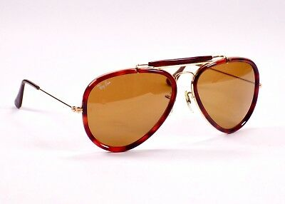 1990's Ray Ban Traditionals Style G Outdoorsman Aviator, W0743 Sunglasses & Case