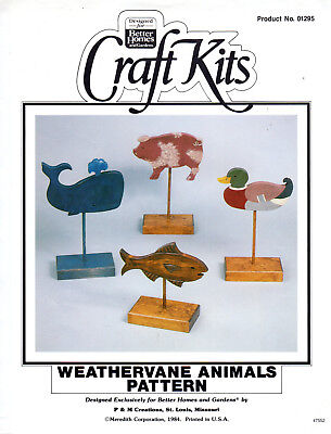 """Weathervane Animals Pattern"" BH&G Craft Kits #01295 Woodcrafts Wood Working"