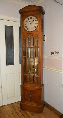 A NICE BLONDE OAK CASED HAC WESTMINSTER CHIME LONG CASE CLOCK c1930 *SERVICED*