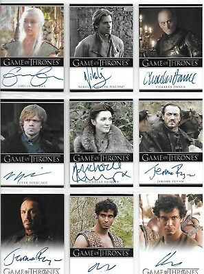Game of Thrones Season 1 One Master Set 2012 with Trading Card Album (Binder)