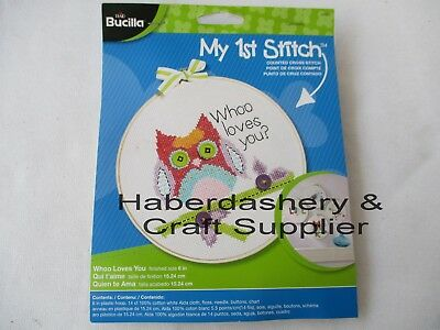 "Bucilla Embroidery Kit With Floss 6"" Plastic Hoop 45997"