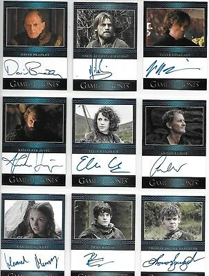 Game of Thrones Season 3 Three Master Set with all Gold Parallel Cards & Binder