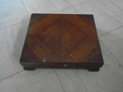 Vintage Large Mahogany Elkington  Canteen Of Cutlery Box . Wooden Storage Box