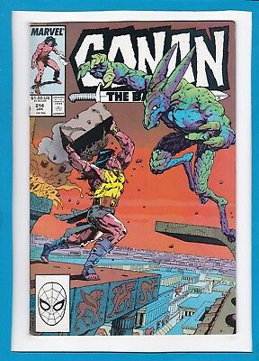 Conan The Barbarian #214_January 1988_Very Good_Marvel Sword And Sorcery!
