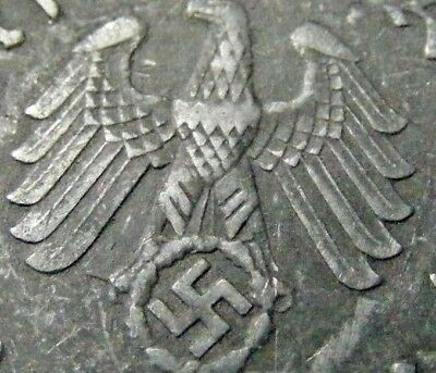 NAZI 10 cent coin  ww2 .The real coin,no fakes!!'''/.,;;[