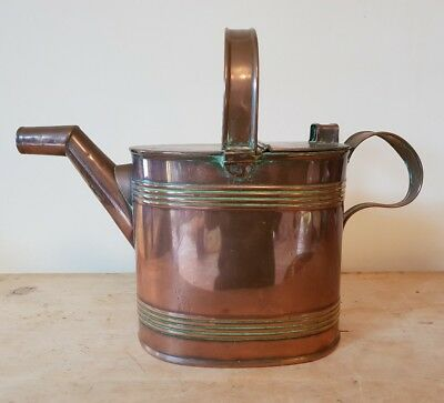 Edwardian Country House Orangery Greenhouse Copper Watering Can Quality 6PT Vtg