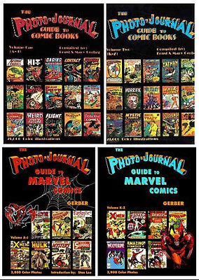 Gerber Photo-Journal Guide To Comic Books Volumes 1-4!