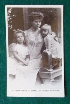 Antique Royal Postcard Crown Princess later Queen Marie & Children of Romania