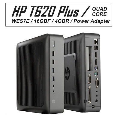 HP T620 Plus+ WES7e Thin Client Quad Core GX-420CA 2GHz 16GB-F 4GB-R F5A61AA#ABA