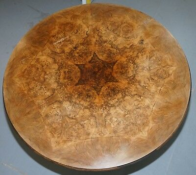 Glorious Book Cut Burr Walnut English Victorian Occasional Centre Dining Table