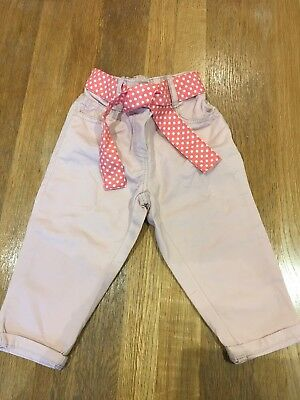 Next Girls Pink Trousers 12-18 Months