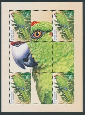 Australia: 2009 PARROT M/sheet only available from PO year album. MUH.