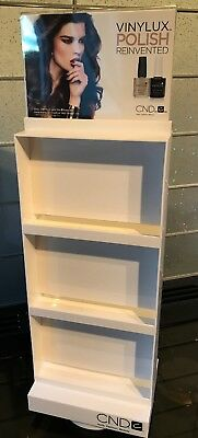 White Cnd Spinning Vinylux Nail Polish Display Rack Holds 24 Polishes