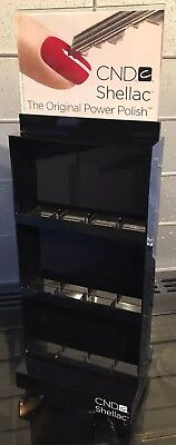 Black Cnd Spinning Shellac Gel Nail Polish Display Rack Holds 24 Polishes