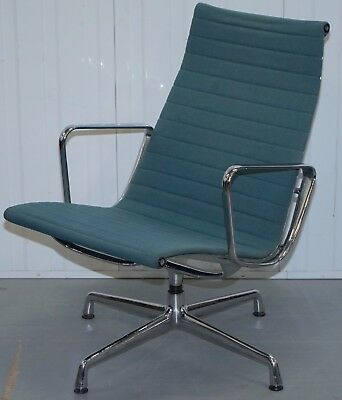 1 Of 3 Rrp £2095 Charles Eames By Vitra Ea 116 Hopsack Swivel Lounge Armchair