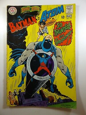 Brave and The Bold #77 W/Batman and The Atom! VG- Condition! Bottom Staple Pop