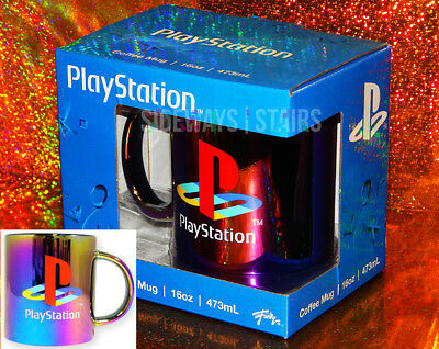 PLAYSTATION OIL SLICK MUG iridescent retro gamer collectible official product PS
