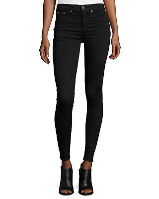 6bb14e187b28be NEW RAG & BONE/JEAN The Legging Skinny Jeans Black Womens Size 24 ...
