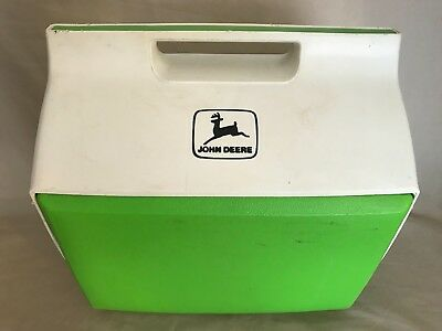 RARE Vintage John Deere Igloo Playmate Cooler Lunchbox Green White MADE IN USA