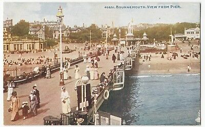 Dorset; Bournemouth, View From Pier PPC By Photochrom, Unposted, c 1910's