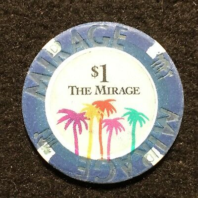 The Mirage Hotel & Casino Las Vegas Nevada $1 Casino Chip