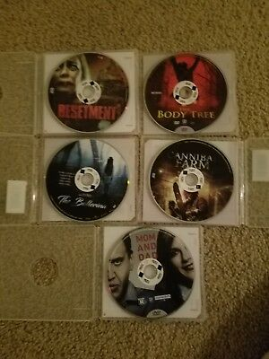REDBOX MOVIES LOT OF 5 RATED R HORROR Dvd