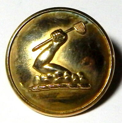 ANTIQUE 19th CENTURY LIVERY BUTTON-w/RAISED FIST CLENCHING AN AX-LIKE WEAPON