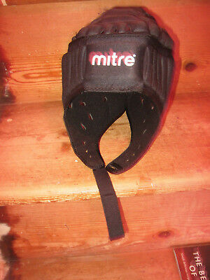 Mitre Rugby Head Guard Irb Approved Black Small 54-55Cm Worn Once High Density