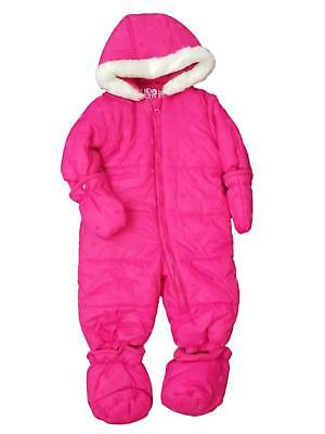 619fe0cc0 CARTERS INFANT GIRLS Pink Nordic Print Snowsuit Baby Pram Snow Suit ...