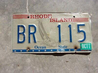 Rhode Island 1998 Sail Boat license plate #    BR  115