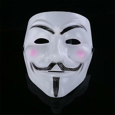 Anonymous Hacker For Vendetta Faiges Fancy Cosplay Dress Halloween Face Mask